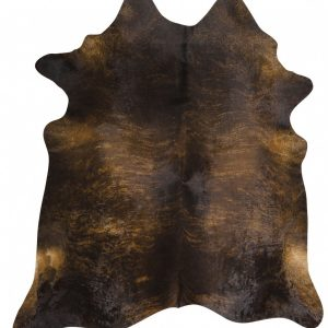 COWHIDE-NAT-DKBRIN Cowhide Brown Rug - The Flooring Guys