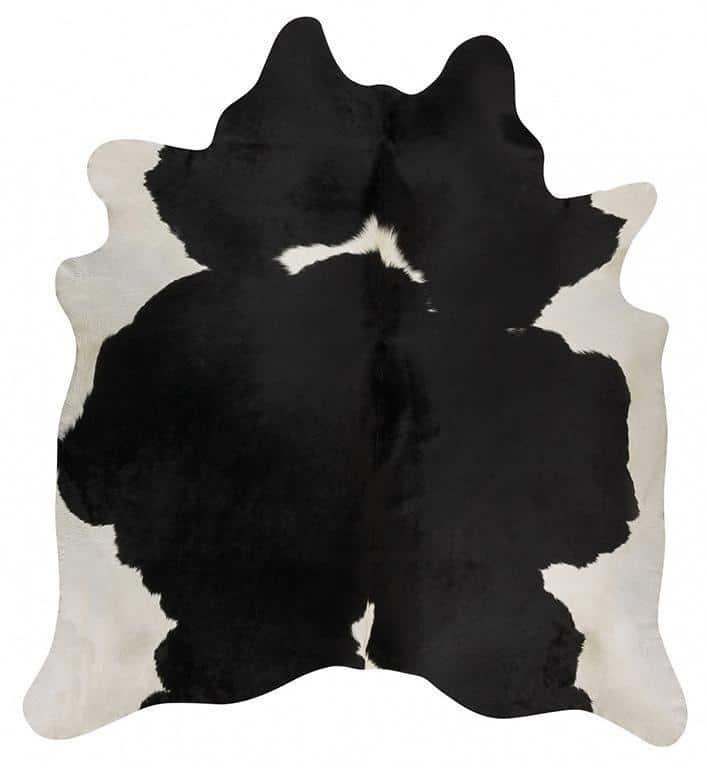 COWHIDE-NAT-BLACKW Cowhide Black Rug - The Flooring Guys