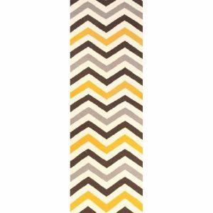 NOM-18-YELLOW-RU Flat Weave Yellow Rug - The Flooring Guys