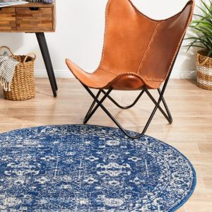EVO-252-NAVY-RO Modern Navy Rug - The Flooring Guys
