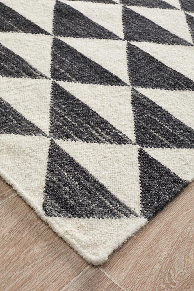 Astrid Geo Flat Weave Wool Rug