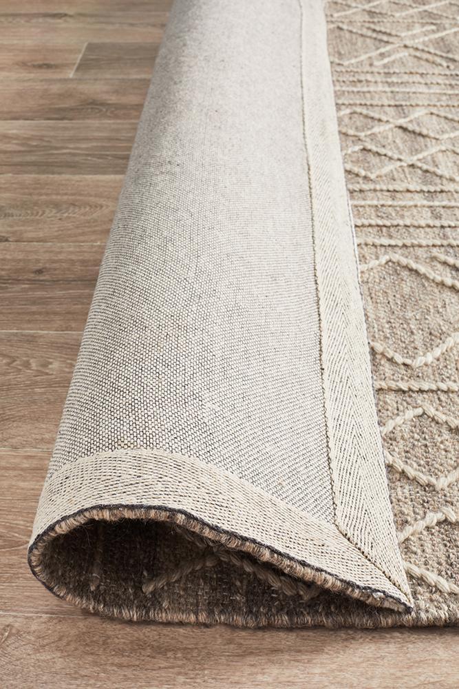 Arya Stitch Woven Rug Natural