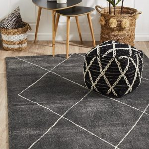 BRD-931-CHAR Contemporary Charcoal Rug - The Flooring Guys