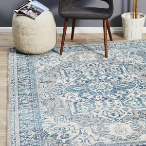 BLN-207-BLUE Modern Blue Rug - The Flooring Guys