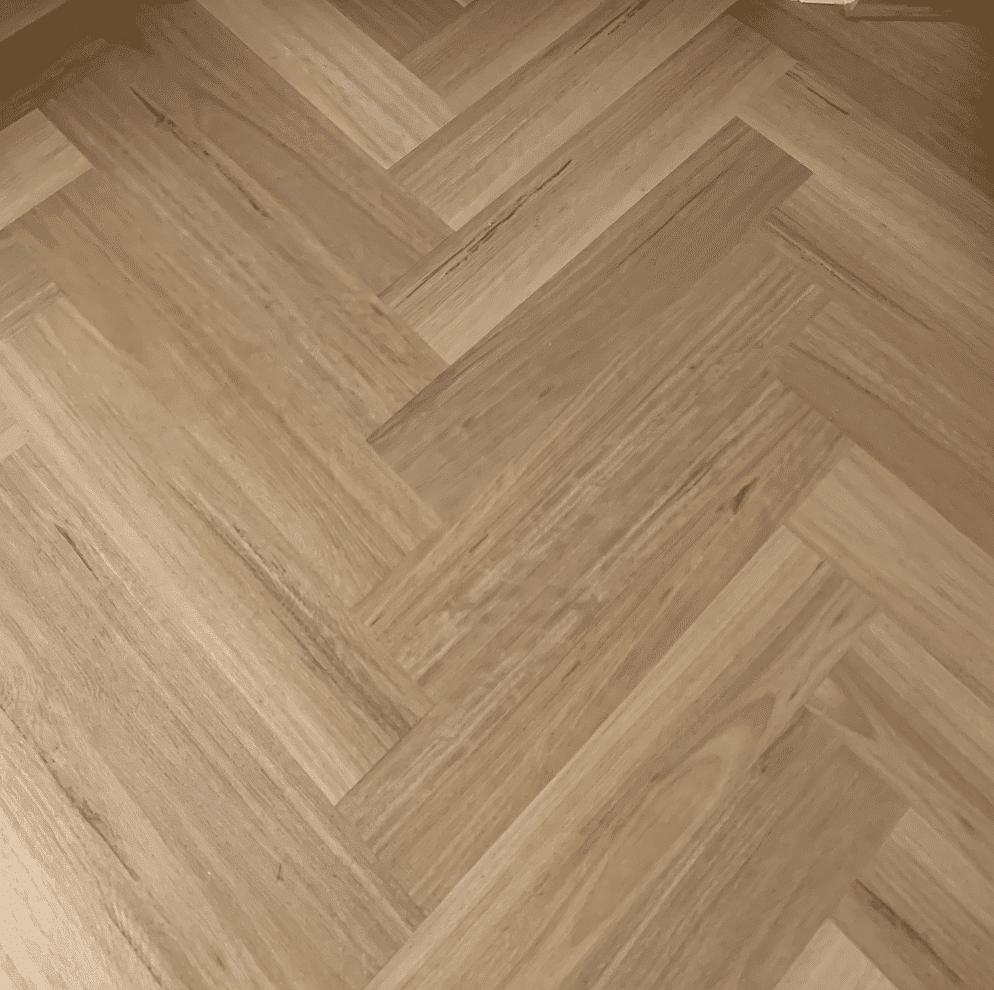 9MM Blackbutt Herringbone Hybrid Waterproof Flooring